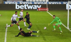 Kyle Walker scores from outside the picture!