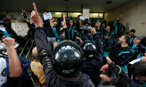 Deliveroo riders protest
