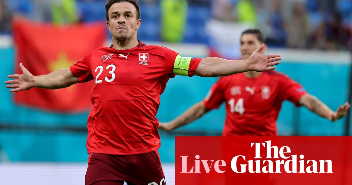 Switzerland v Spain: Euro 2020 quarter-final goes to extra-time – live!