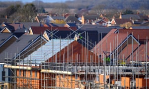 Houses under construction. The government missed its target of building 250,000 new homes a year.