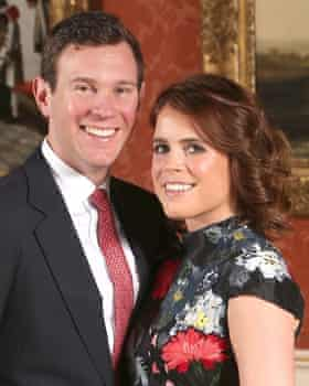 Princess Eugenie with her husband-to-be Jack Brooksbank