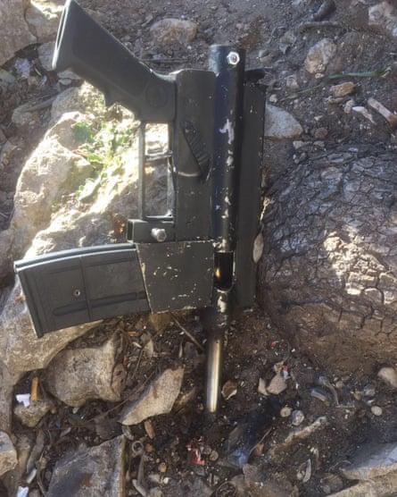 A Carl Gustav gun reportedly used to kill an Israeli policewoman last month.
