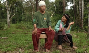 Indigenous tribesman Xina and his wife, Powo.