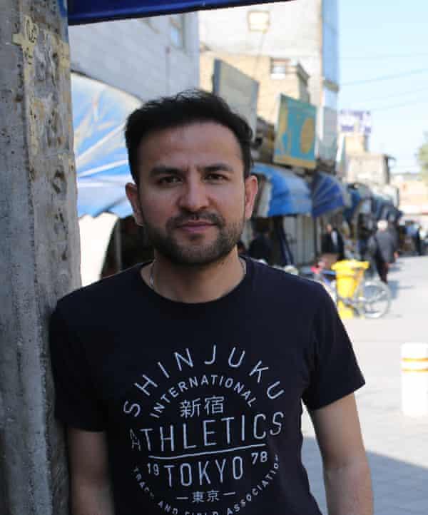 Afghan poet and visual artist Elyas Alavi now lives in Adelaide