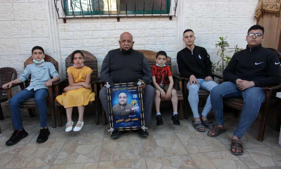 Members of Halabi's family at home in Gaza City.