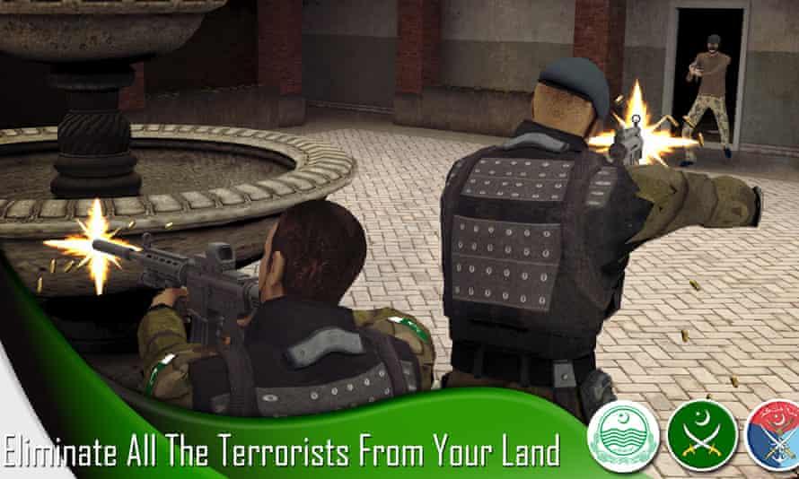 Fighting Taliban gunmen in the game