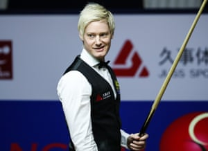 Neil Robertson at the Shanghai Masters last month.