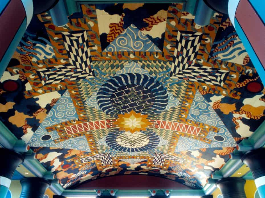 Cosmic … Outram's ceiling for Duncan Hall, in the engineering faculty of Rice University, Texas