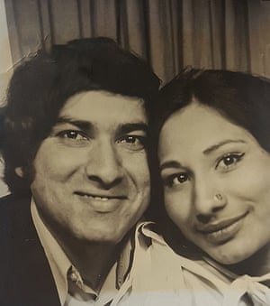 Saima's parents in the late 70s.