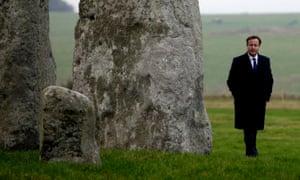 David Cameron visits Stonehenge in 2014.