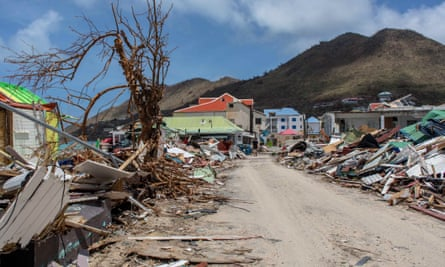 Hurricane damage on Saint Martin. 'The toll in the worst-hit Caribbean islands has not yet been calculated but it will be far greater than the cost to the US relative to the size of the battered economies.'