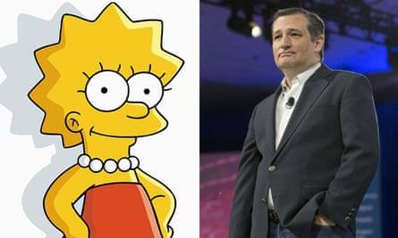 Lisa Simpson and Ted Cruz.