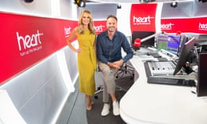 Heart Breakfast hosts Jamie Theakston and Amanda Holden.