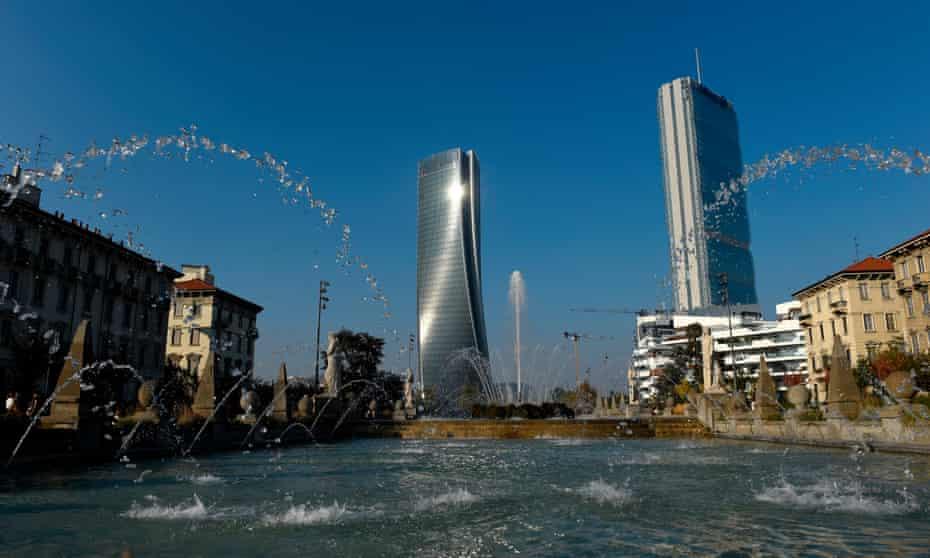 Milan's  towers designed by Zaha Hadid and Arata Isozaki are monuments to its prosperity.