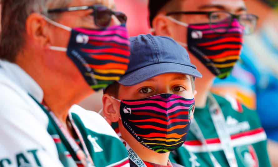Leicester Tigers fans at Welford Road stadium on 5 June.