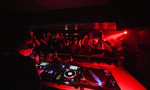DJ playing at La Cheetah, Glasgow.
