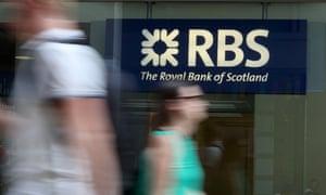 Royal Bank of Scotland sign on london street