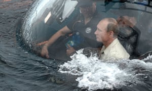 Putin about to sink down to the wreckage of an ancient merchant ship which was found earlier this year