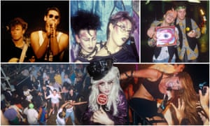 Days of Heaven, clockwise from top left: Spandau Ballet in concert, 1981; new romantic goths in 1984; acid house in 1988; Miley Cyrus at G-A-Y in 2010; Tasty Tim, doyenne of the Heaven DJs in 1984; the dancefloor at Spectrum in 1988.