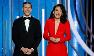 Andy Samberg and Sandra Oh.