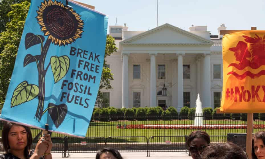 A group of Native American activists hold a news conference in front of the White House Friday.