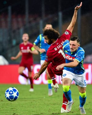 Mohamed Salah endured another frustrating night against Napoli in the Champions League.