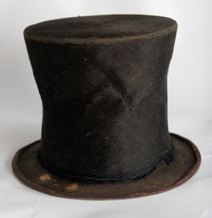 Abraham Lincoln's iconic stovepipe hat at the Lincoln Library and Museum in Springfield.