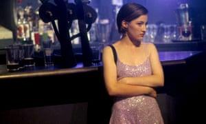 Kelly Macdonald in a slip dress in Trainspotting.
