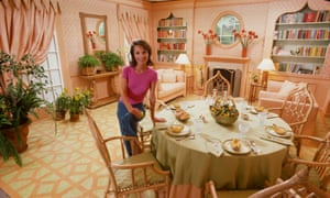 Lee Radziwill in her dining room in March 1976
