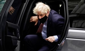Boris Johnson arrives in Downing Street after the Conservative party conference