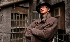 Simon Munnery in an alley behind the Stand comedy club in Edinburgh.