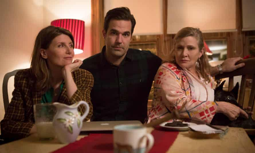 Fisher, right, with Horgan and Rob Delaney in Catastrophe.
