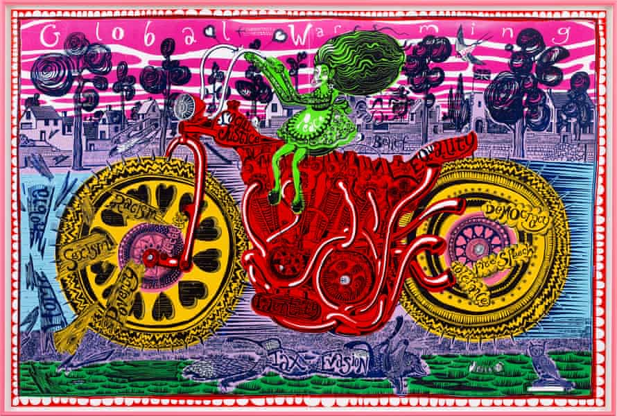 'Making fun of politicking': Grayson Perry's Selfie with Political Causes.