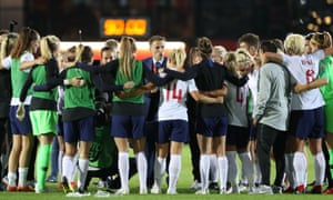 Phil Neville addresses his England side after their crucial win over Wales in qualifying