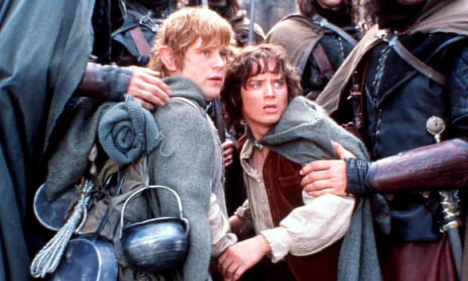 Sean Astin as Sam and Elijah Wood as Frodo