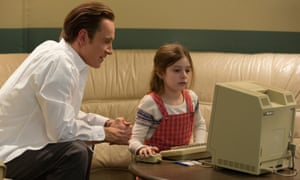 Michael Fassbender with Makenzie Moss in the biopic Steve Jobs