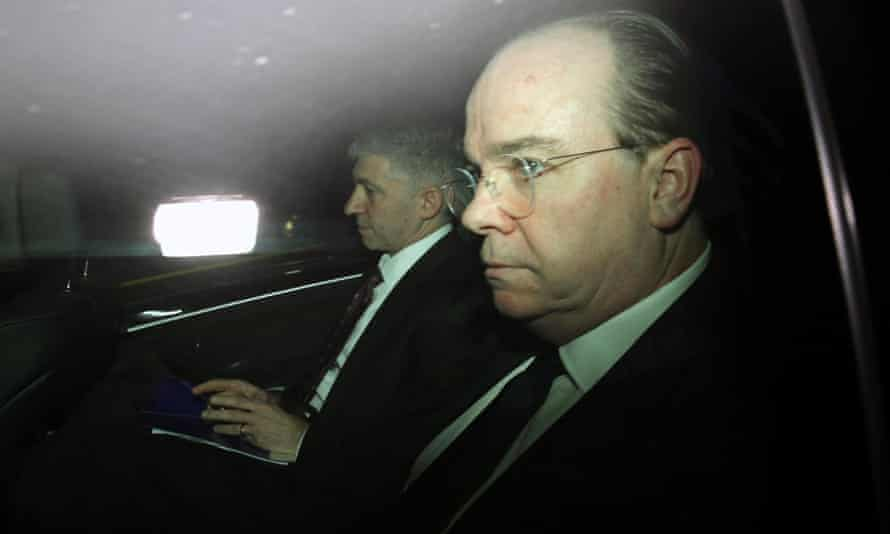 Stuart Gulliver, the chief executive of HSBC, leaves Westminster after the public accounts committee hearing.