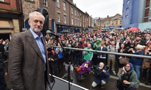 Jeremy Corbyn outside the Tyne Theatre and Opera House, Newcastle.