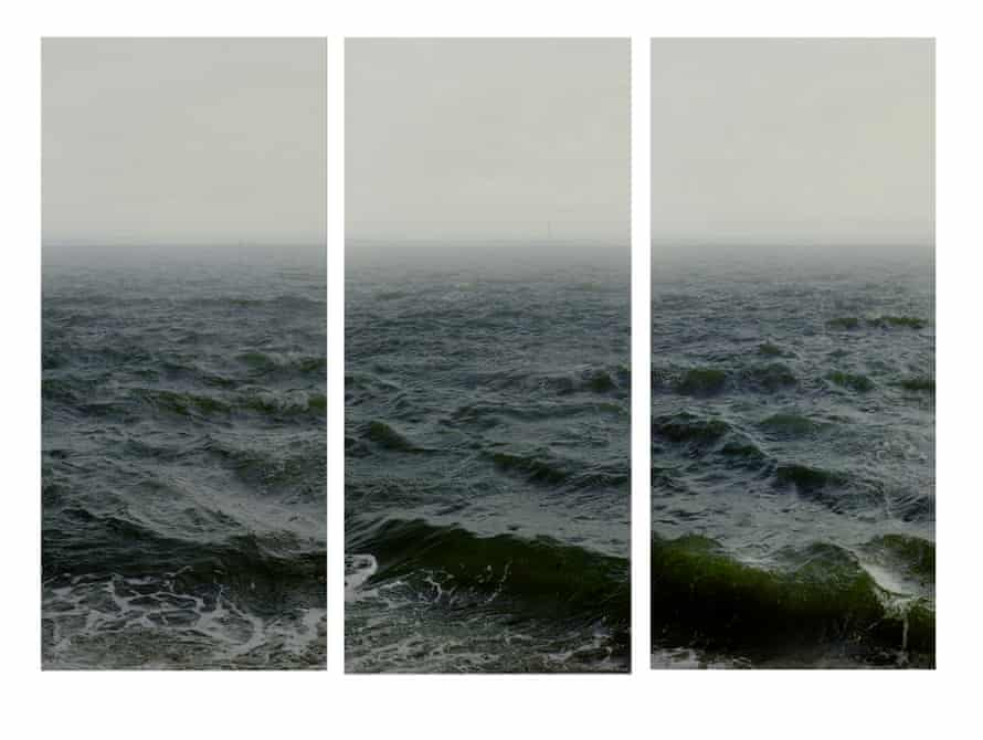 Water III, part 1,2 and 3, (Shoeburyness towards The Isle Of Grain), 2015, by Navdav Kander.