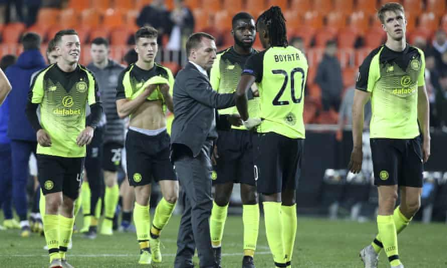 Rodgers puts a brave face on defeat at Valencia last week that brought a premature end to Celtic's involvement in European competition.