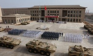 The opening ceremony of China's new military base in Djibouti.