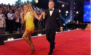 Ed Balls and Laura Whitmore at launch of Strictly Come Dancing