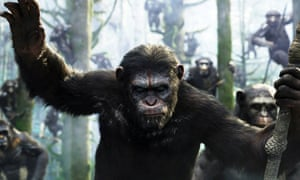 A scene from the film, Dawn of the Planet of the Apes, another Weta project.