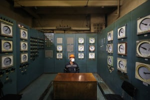 Transbaikal , Russia An employee in a control room at the Urtuisky open coal mine, part of Priargunsky Industrial Mining and Chemical Union