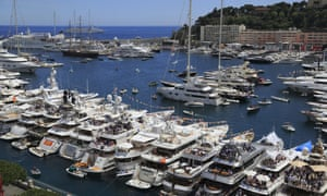 Yachts and cruise ships in the harbour at Monaco