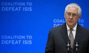 The US secretary of state, Rex Tillerson: 'As a coalition we are not in the business of nation building or reconstruction.'