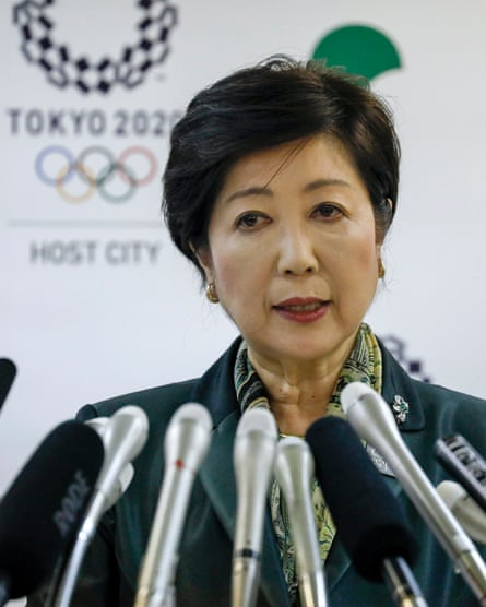 Tokyo's governor, Yuriko Koike, announces the relocation of the fish market