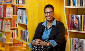 Sharmaine Lovegrove photographed at Libreria bookshop, east London.