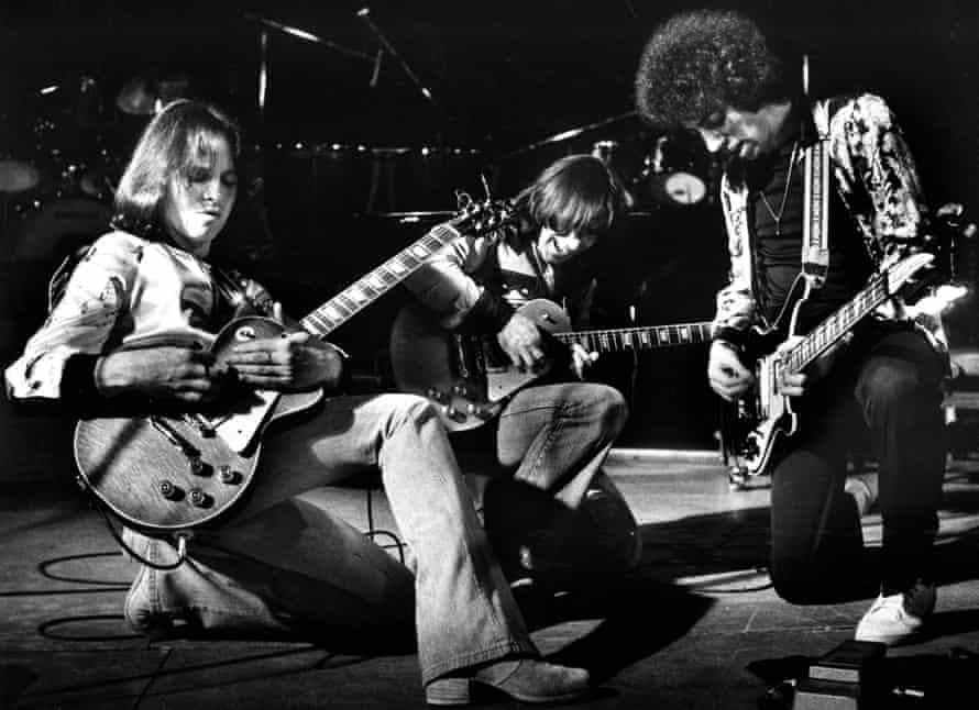 10CC on stage in the Netherlands in 1975.