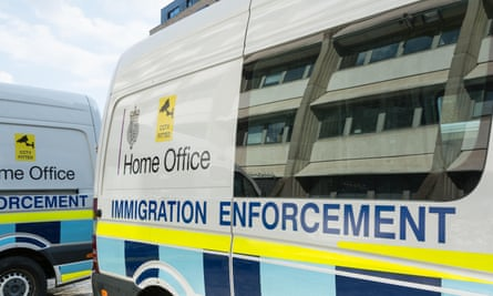 Home Office immigration enforcement vehicles in London
